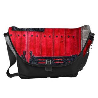 Gorgeous Red Rustic Wood Door Courier Bag