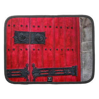 Gorgeous Red Rustic Wood Door Planners