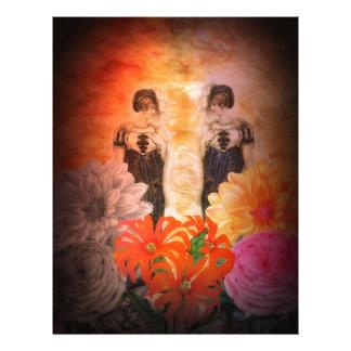 Gorgeous Reflection Vintage Flowers Letterhead