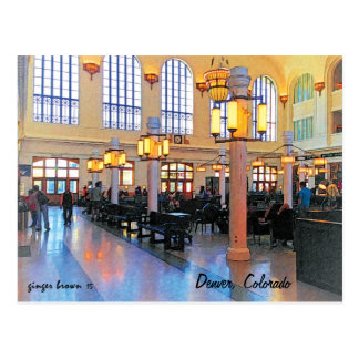 Gorgeous Remolded Lobby, Union Station, Denver, CO Postcard