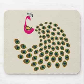 Gorgeous Retro Peacock Mouse Pad