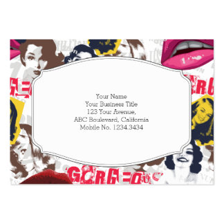 Gorgeous Retro Pinup Collage Barely There Business Card Template