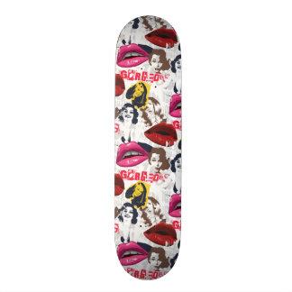 Gorgeous Retro Pinup Girls Collage Skateboard Deck