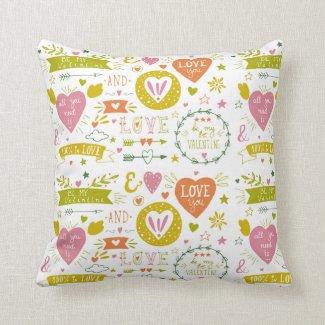 Gorgeous Romantic-Themed Cuddle Cushion! Throw Pillows