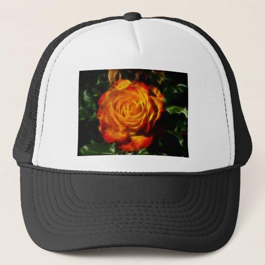 Gorgeous Rose on Fire Trucker Hat