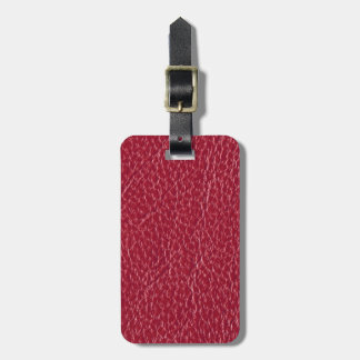 Gorgeous Rose Pink Leather Texture Bag Tag