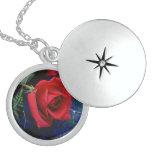 Gorgeous Roses Necklace Locket Round Locket Necklace