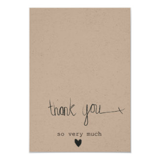Gorgeous Rustic Dream Thank You customisable Card