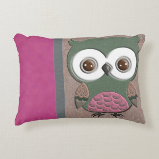 Gorgeous Rustic Owl Accent Pillow