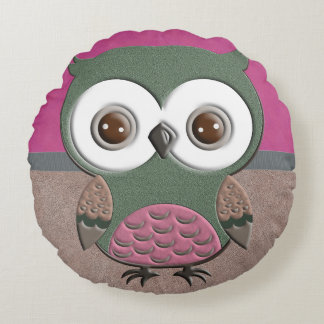 Gorgeous Rustic Owl Round Pillow