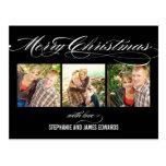 Gorgeous Script Christmas Photo Card Post Cards