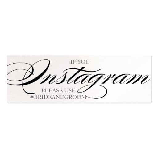 Gorgeous script font wedding instagram cards business card