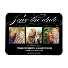 Gorgeous Script Save The Date Magnet