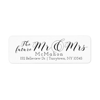 Gorgeous Script The Future Mr and Mrs Label