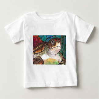 Gorgeous Sea Turtle Stained Glass Style Art Baby T-Shirt