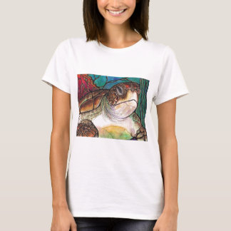 Gorgeous Sea Turtle Stained Glass Style Art T-Shirt