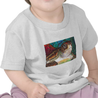 Gorgeous Sea Turtle Stained Glass Style Art Shirts