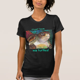 Gorgeous Sea Turtle Stained Glass Style Art Shirt