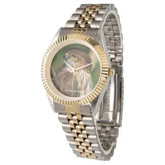 Gorgeous Sharp-Shinned Hawk Comes A-Callin' Wrist Watch
