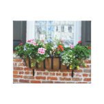 Gorgeous Shutters and Window Basket of Flowers Stretched Canvas Prints