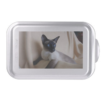 Gorgeous Siamese Cat Face Cake Pan
