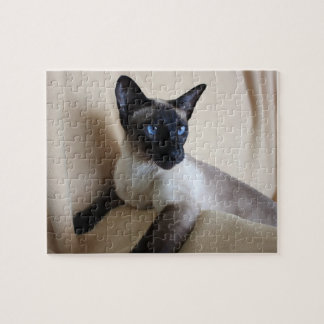 Gorgeous Siamese Cat Face Jigsaw Puzzle