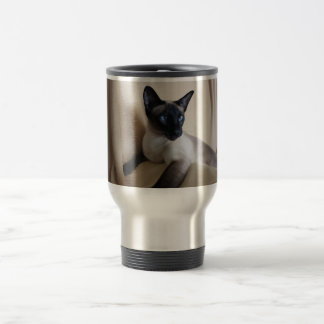 Gorgeous Siamese Cat Face Travel Mug