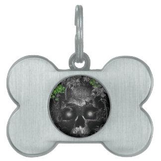 Gorgeous Silverlight Skull Design Pet ID Tag