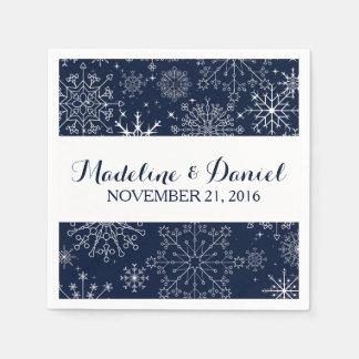 Gorgeous Snowflakes Wedding Napkins