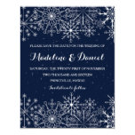 Gorgeous Snowflakes  Winter Save the Date cards