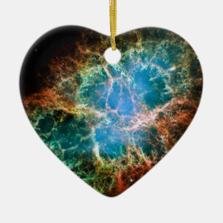 Gorgeous Space Photo of the Crab Nebula Ornaments