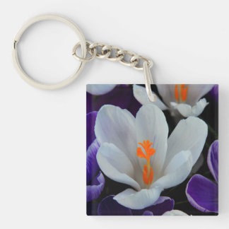 Gorgeous Spring Tulips Square Acrylic Key Chains