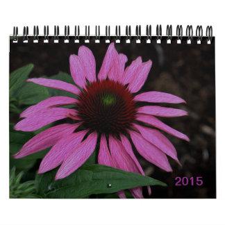 Gorgeous summer flowers texture painting 2015 calendar