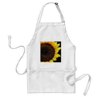 Gorgeous Sunflower Macro Photo Apron
