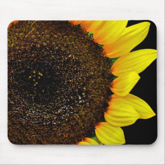 Gorgeous Sunflower Macro Photo Mouse Pads