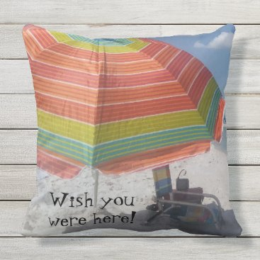 Beach Themed Gorgeous Sunny Naples, FL Beach Picture Outdoor Pillow