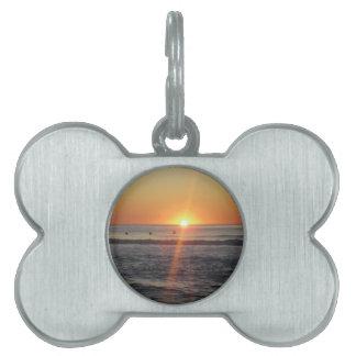 Gorgeous sunrise pet name tag