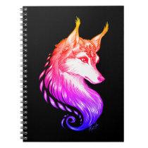 Gorgeous Sunset Hand Drawn Wolf School Notebook