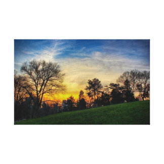 Gorgeous Sunset in Central Park, NYC Canvas Print