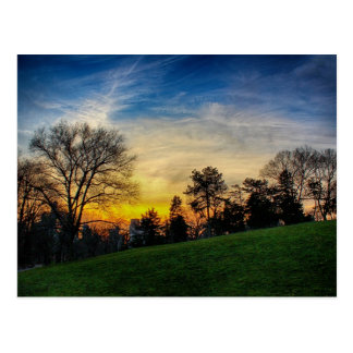 Gorgeous Sunset in Central Park, NYC Postcard