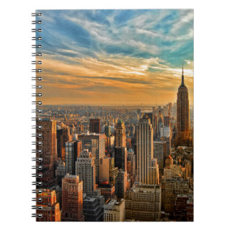Gorgeous Sunset in Manhattan, New York City Notebook