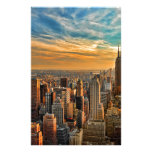 Gorgeous Sunset in Manhattan, New York City Stationery
