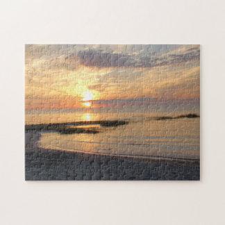 Gorgeous Sunset over Cape Cod Beach Puzzle