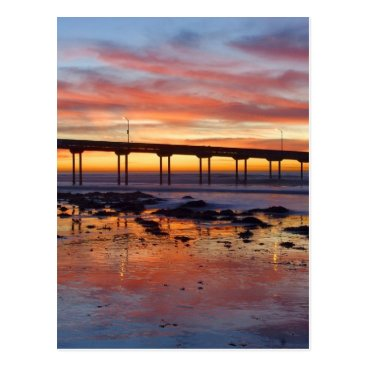 Beach Themed Gorgeous Sunset Postcard