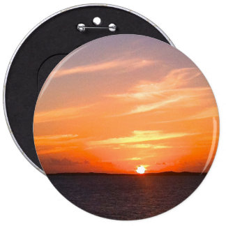Gorgeous Sunset | Turks and Caicos Photo 6 Inch Round Button