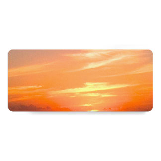Gorgeous Sunset | Turks and Caicos Photo 4x9.25 Paper Invitation Card