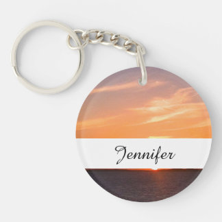 Gorgeous Sunset | Turks and Caicos Photo Keychain
