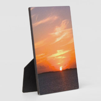 Gorgeous Sunset | Turks and Caicos Photo Display Plaque