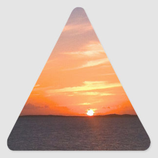 Gorgeous Sunset | Turks and Caicos Photo Triangle Sticker