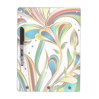Gorgeous swirling floral pattern dry erase board